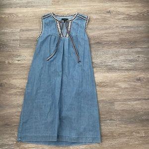 J.crew chambray sleeveless dress size 0
